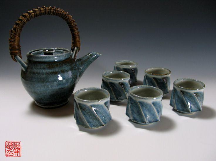 Gosu Mentori Green Tea Set by Kawai Toru