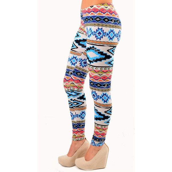Aztec Leggings ❤ liked on Polyvore featuring pants, leggings, bottoms, tights, legging pants, tribal pants, aztec-print leggings, tribal print trousers and tribal leggings