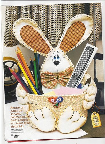 Pote sorvete coelho: Rabbit, Pals, The Sorvete, Crafts