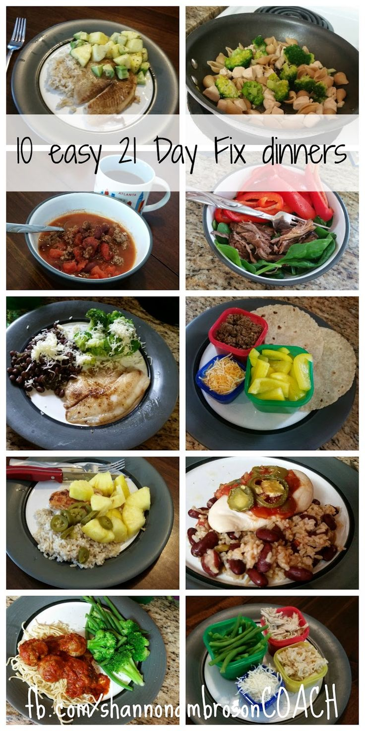 Shannon Ambroson Wellness: 10 Easy 21 Day Fix Dinners
