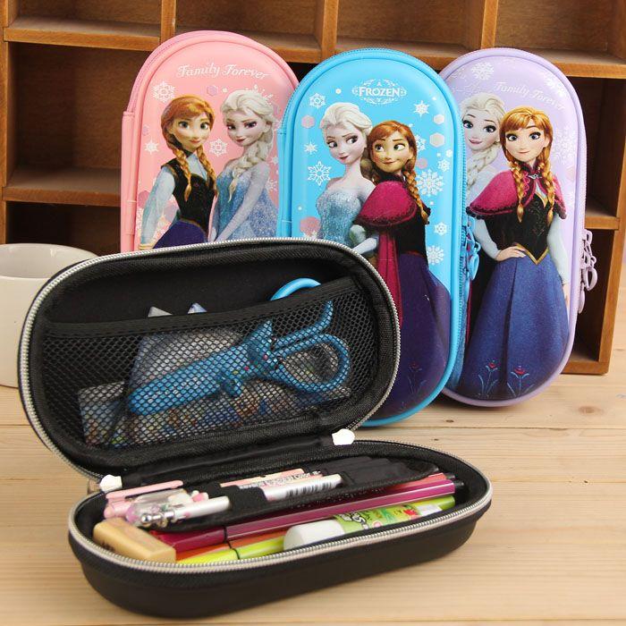 fronzen theme school pencil case cartoon cute school pencil case pencil bag for girl pencil case for girl large kids boys girl