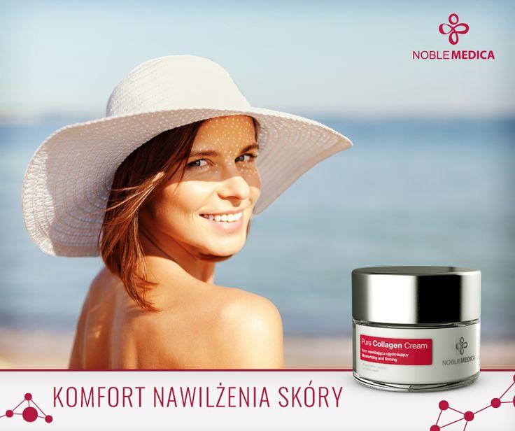 """W lecie nasza skóra jest bardziej podatna na wysuszenie. Żadna z nas chyba nie lubi tego uczucia """"ściągniętej"""" skóry na twarzy. Komfort i odpowiedni poziom nawilżenia zapewni krem, który zawiera bogatą formułę nawilżającą, dodatkowo wzbogaconą o filtry UV chroniące przed szkodliwym działaniem promieni słonecznych. Taki jest Pure Collagen Cream!  Przyda się nie tylko na wakacje! ☀ bit.ly/Pure_Collagen_Krem"""