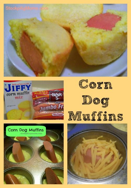 Corn dog muffins are so easy to make and the kids will love them! #summer #kids