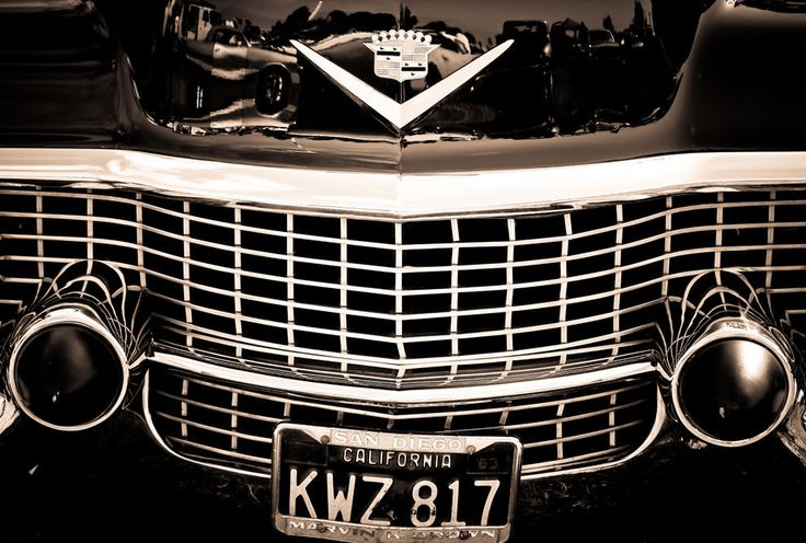 Black and White Cadillac Grill