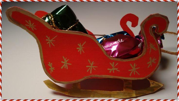 Manualidades para navidad trineo de pap noel tarjetas for Trineo madera decoracion