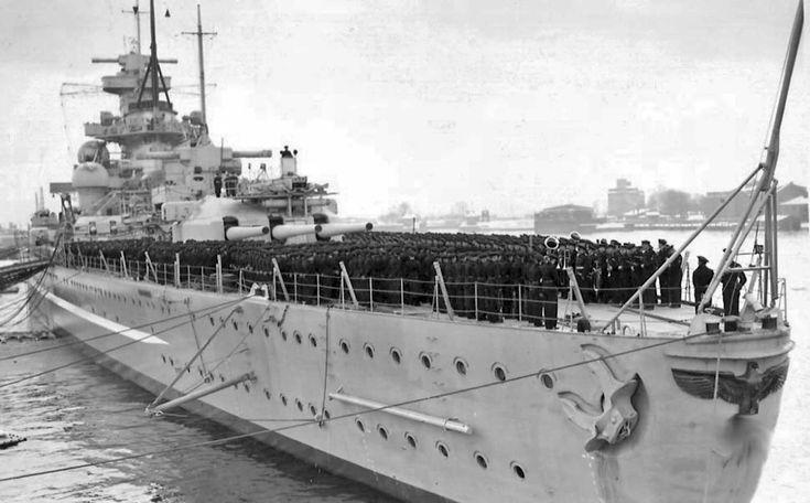 Commissioning of the German battleship Scharnhorst