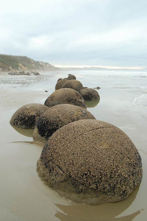 Moeraki Boulders - camped here on holiday for a week when I was a kid. Weird boulders alright!