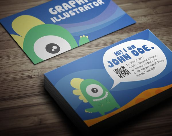 Graphic monster business card design on Behance