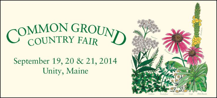 Common ground county fair in Maine, gardening/farming/livestock demos including organic
