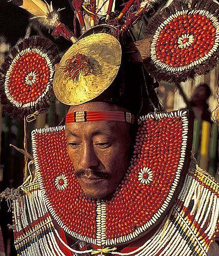 Naga-man. Chin State. Myanmar