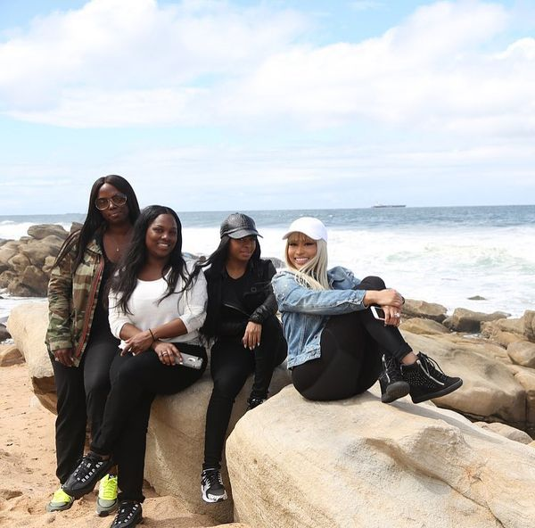 Nicki Minaj shared a couple photos of herself and her best friends enjoying the beach during their trip to South Africa for The Pinkprint Tour. Check them out below: