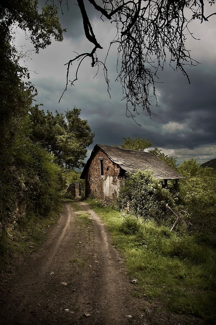 The Witches House - in the now abandoned village of Santa Lucia northwest of Spain.