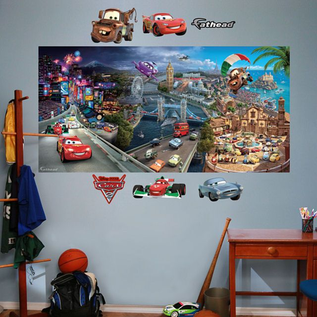 31 best images about race car room ideas on pinterest for Disney world mural