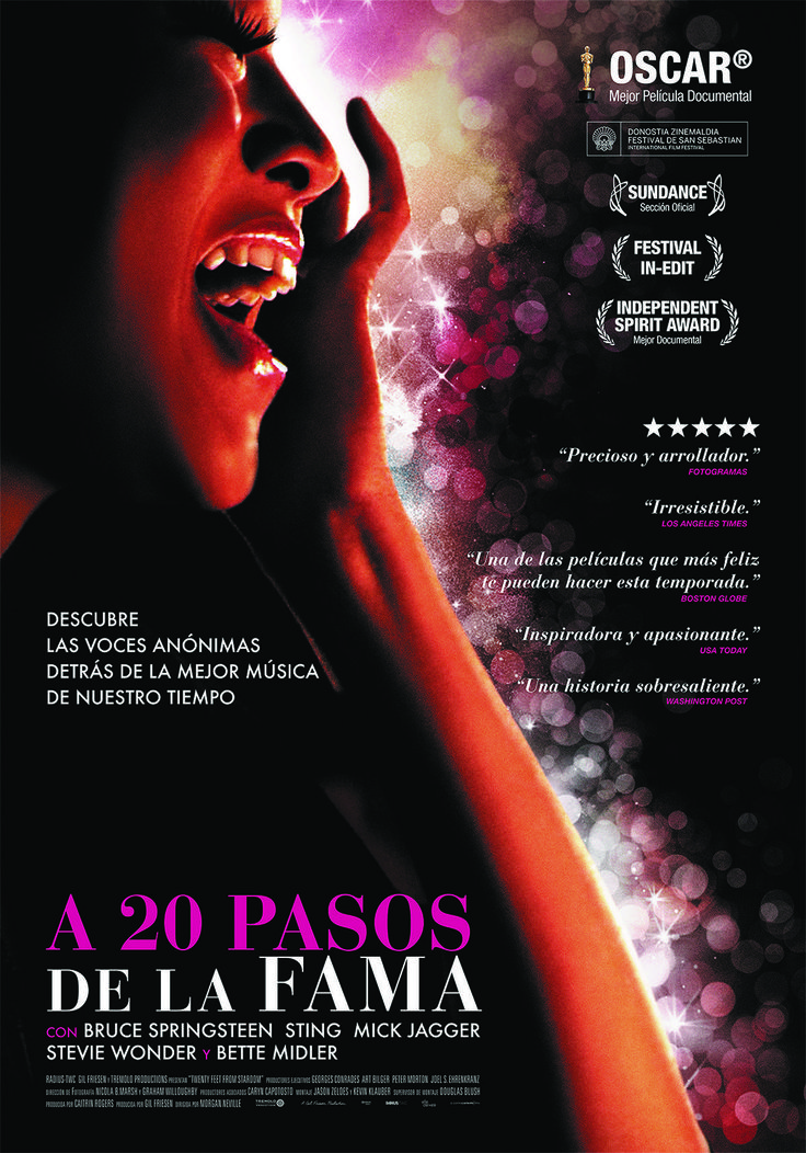 20 Feet from Stardom (A 20 pasos de la fama)|DVDrip|Mega|Up