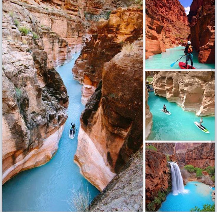 Paddle boarding in the Grand Canyon.