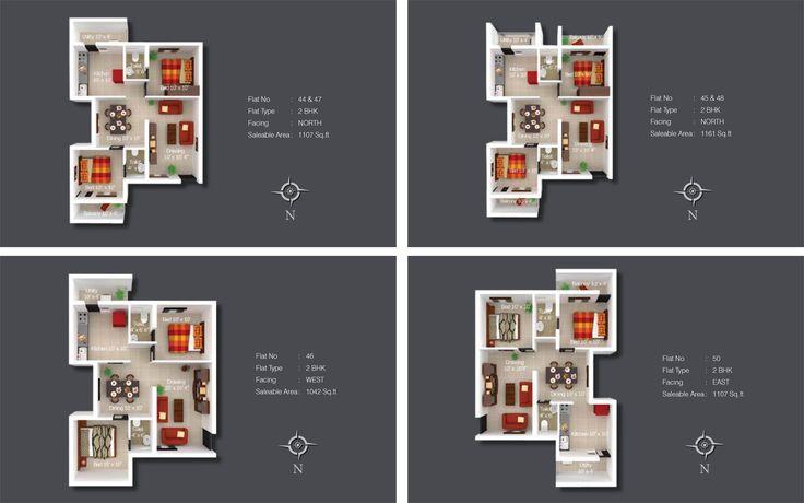 Apartment Floor Plan (Kshiptha)