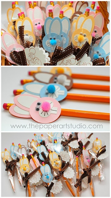 Easter Bunny Pencil Toppers