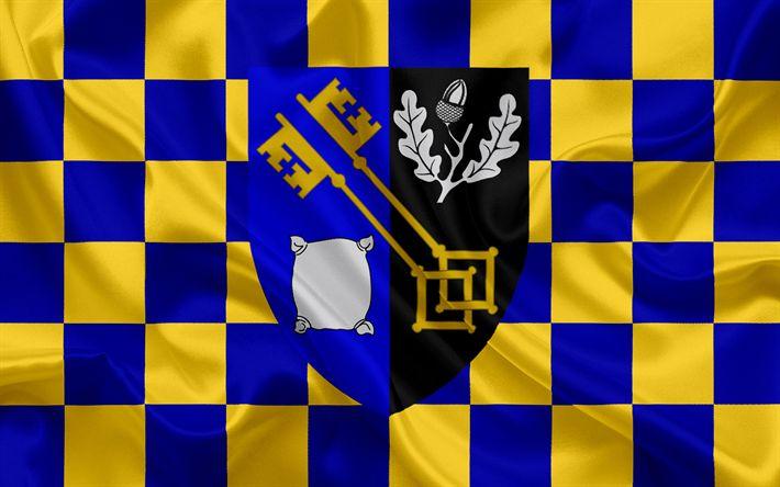 Herunterladen hintergrundbild grafschaft surrey flagge england, flaggen der englischen grafschaften, flagge von surrey, british county flags, seide flagge, surrey