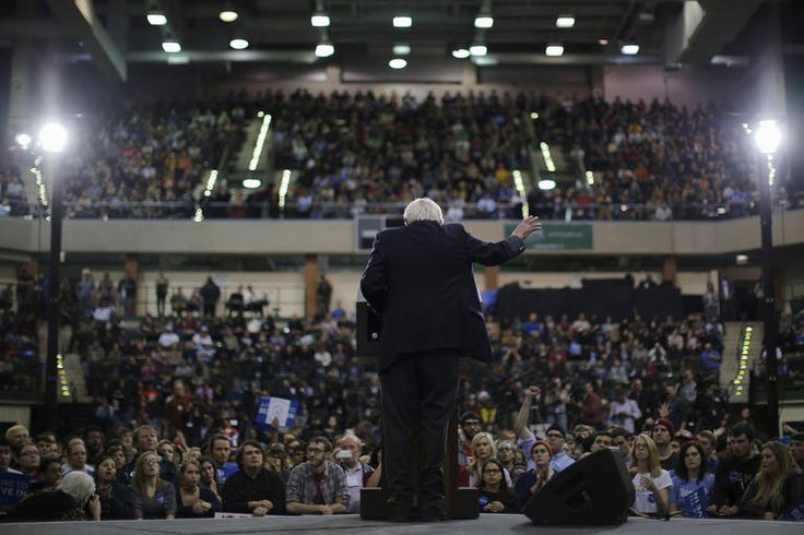 Democratic presidential candidate and U.S. Senator Bernie Sanders speaks at a campaign rally at Chicago State University in Chicago, Ill., Feb. 25, 2016. (Photo by Brian Snyder/Reuters)