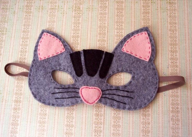 Children's Felt Cat Mask. $12.00, via Etsy.