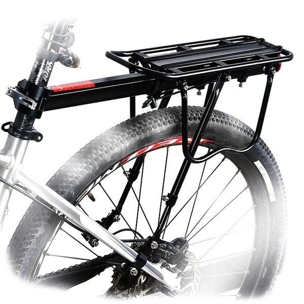 Bicycle Mountain Bike Rear Rack Seat Post Mount Pannier Luggage Carrier 110 Lb
