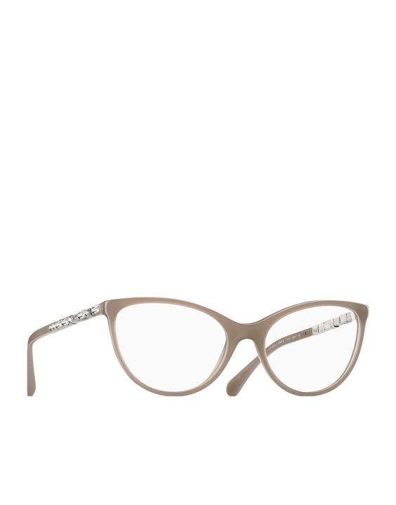 Cat eye acetate eyeglasses with... - CHANEL