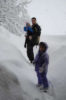 Winter babywearing in Greece