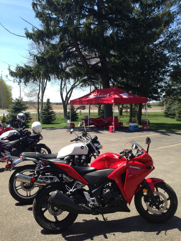 Honda thought out of the board room - showcasing their new motorcycles at the Elm Hurst! www.elmhurstinn.com
