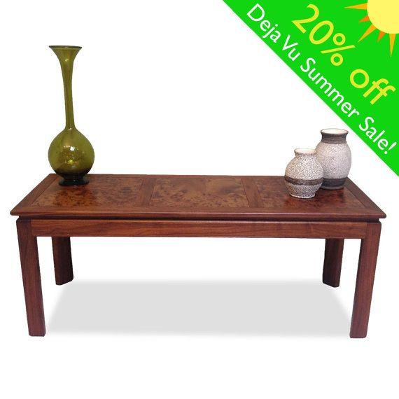 Burl Wood Console Table by Irwin Winkler: Mid Century by DejaVuLB