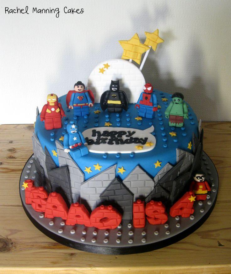 Lego Superhereos Cake