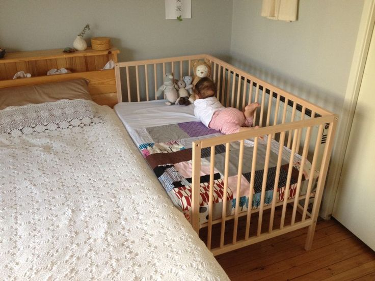 DIY Ikea Sniglar Hack Co Sleeper With Safety Gate Exactly What Im Looking For