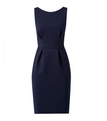 New Look - Closet Navy Textured V Back Bodycon Dress