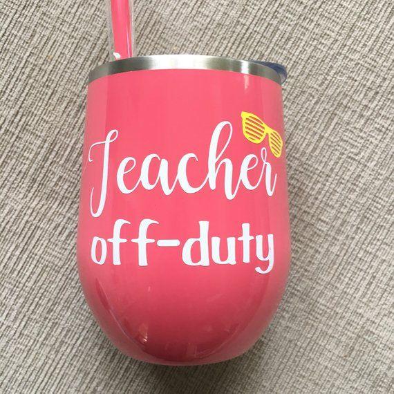 Teacher Gift/End of School Year Teacher Gift/Teacher Wine Glass/Thank You Teacher Gift/Teacher Gift Idea/Personalized Teacher Gift