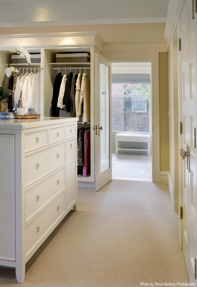 Walk through closet design pictures remodel decor and for Master bedroom with ensuite and walk in wardrobe