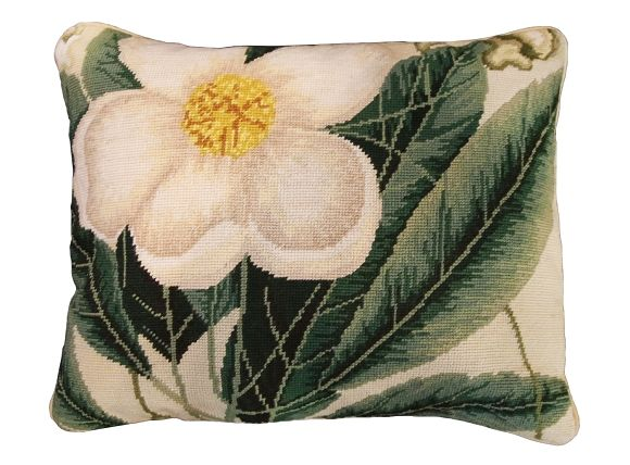 "NCU-412 Cherokee Rose 16""x20"" Needlepoint Pillow"