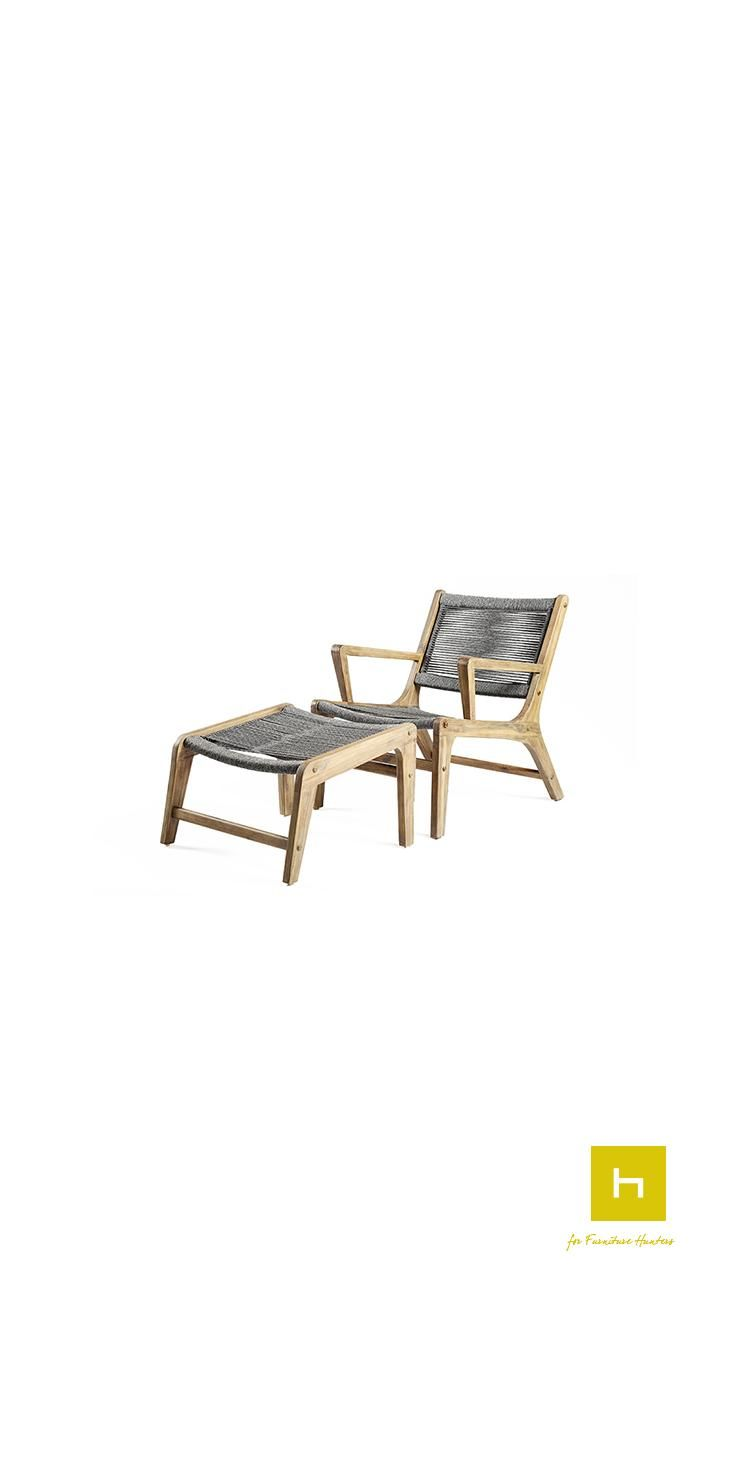 fez outdoor armchair and footstool