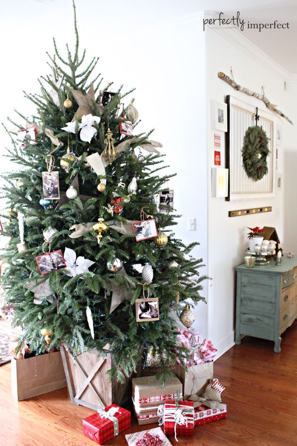 Our Perfectly Imperfect Christmas Tree My Mom Perfectly Imperfect Blog Christmas Tree Container Christmas Tree Base Diy Christmas Tree