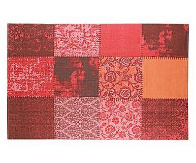Tappeto in cotone Baltimora rosso,