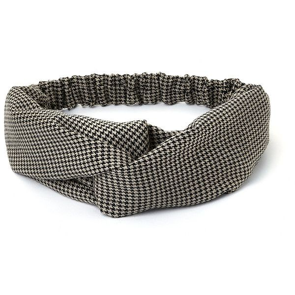 SheIn(sheinside) Houndstooth Twist Headband ($5) ❤ liked on Polyvore featuring accessories, hair accessories, twisted headwrap, head wrap hair accessories, twisted headband, head wrap headbands and hair band accessories