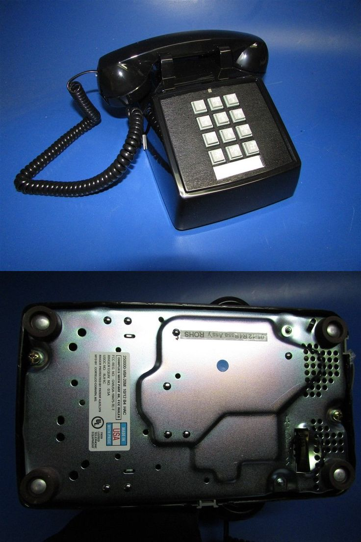 Corded Telephones: Cortelco Itt Push Button Office Desk Telephone 250000-Vba-20M Black -> BUY IT NOW ONLY: $37.5 on eBay!