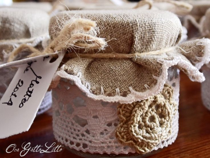 Bomboniere fai da te: i barattolini Country Chic  Bomboniere  Pinterest  Crochet and Craft