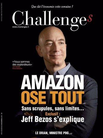 Extraits du sommaire de Challenges N° 410 du 20 novembre 2014. -Événement : les coups gagnants du sponsoring sportif. -En couverture : Pourquoi Amazon ose tout, Jeff Bezos, son fondateur défend la stratégie sans limite du leader mondial de l'e-commerce.