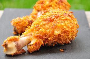 Cosce di pollo ai Corn Flakes