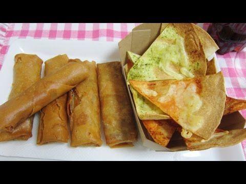 春巻き&トルティーヤチップス Egg rolls&Tortilla chips【ASMR Eating Sounds】