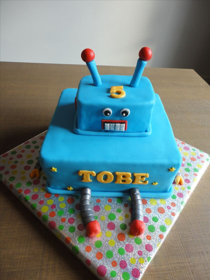 Robot taart Robot cake