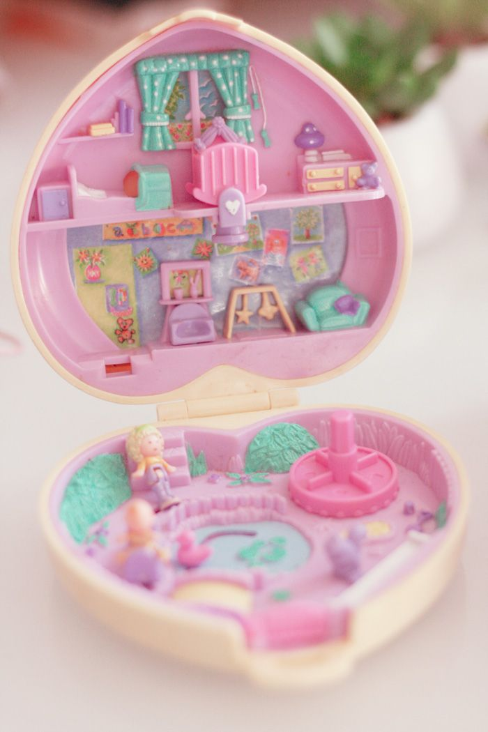 Polly pocket,my best friends daughter had every polly pocket that came out..lol