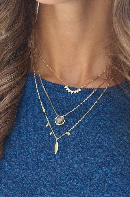 Quartz Pendant on Delicate Gold Necklace | Stella & Dot
