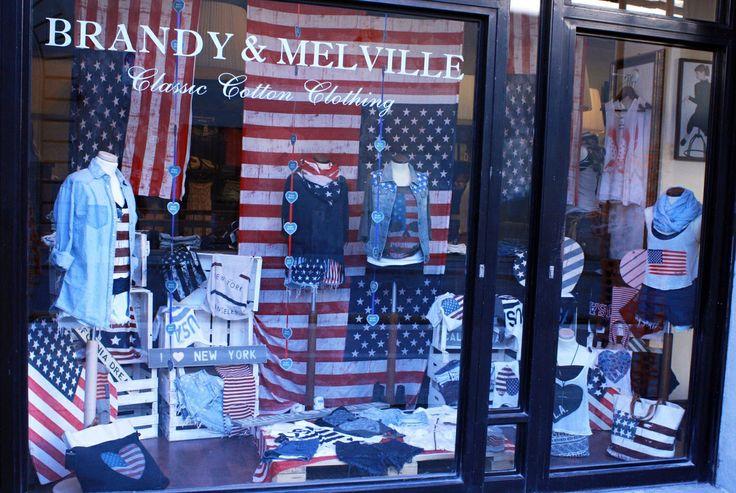 Window display - We love USA!!!