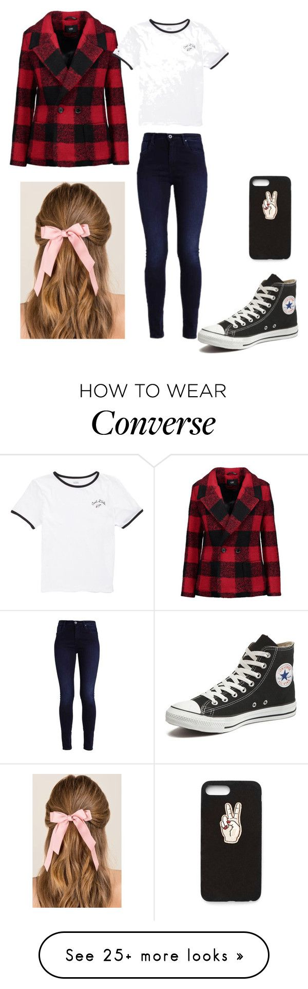 """Casually Hanging Out"" by perez-rose on Polyvore featuring Line, Vans, Converse, Nasty Gal, Francesca's and statementcoats"