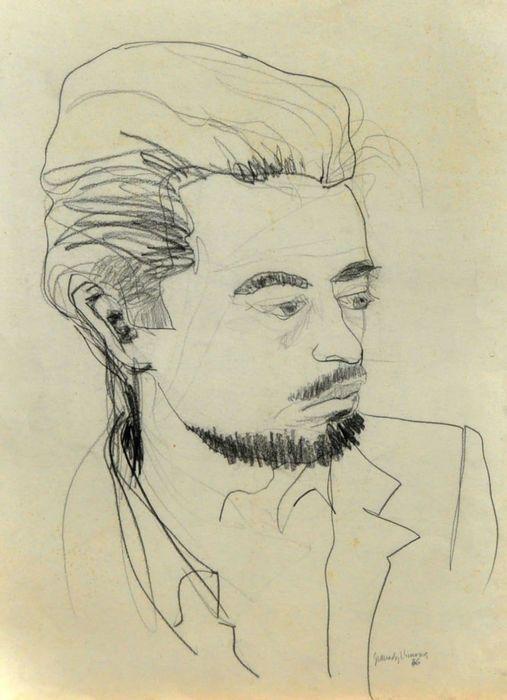 Enric Granados Llimona (1931) - Personaje  Ondertekend door de auteur op de bodem (Granados Llimona) en gedateerd in 1976Het presenteert een kleine snede in het bovenste gedeelteNiet ingelijstAfmetingen van de illustratie: 70 cm hoog x 50 cmEnric Granados is een tekenaar geboren in Barcelona in 1931. Kleinzoon van zanger Enrique Granados en schilder Joan Llimona. Hij maakte zijn studies in Barcelona de Llotja en in Olot de School voor Schone Kunsten. Tot nu toe heeft hij zijn werken bekend…